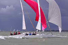 J80s sailing on the Solent