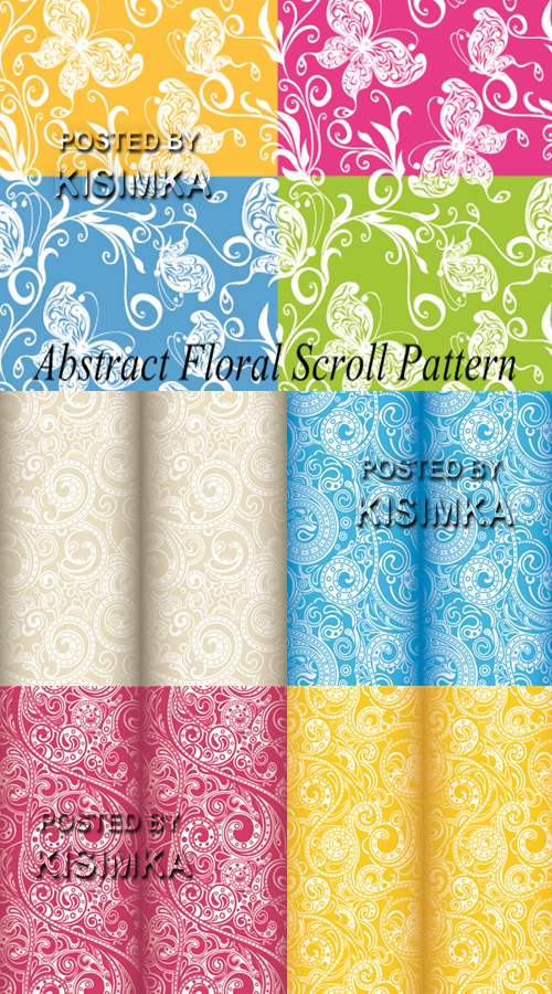 Stock: Abstract Floral Scroll Pattern