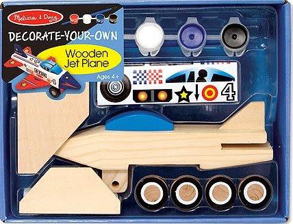 Bộ tô màu và thiết kế máy bay bằng gỗ ME3339 với màu vẽ và stiker trang trí