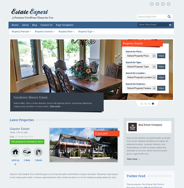 EstateExpert WordPress Real Estate Theme
