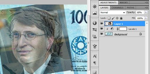 Imagem de Bill Gates com baixa opacidade
