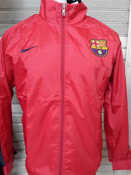 Jaket Parasut Barcelona Merah 2014-2015