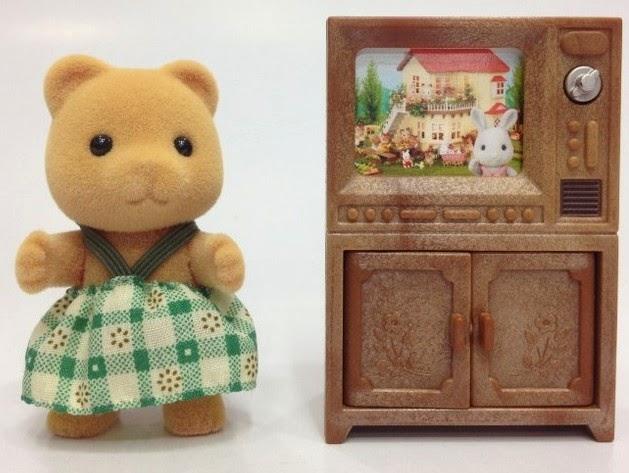 Gấu nhỏ và chiếc Tivi với hình ảnh sinh động