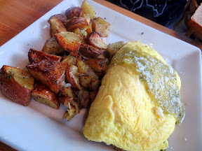 Portage Bay Cafe Verde Pork Omelette breakfast Seattle