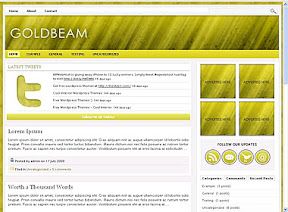 Gold Beam Wordpress Theme