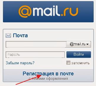Почтовый ящик создать mail ru