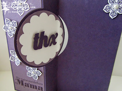 stampin up, mothers day, muttertag, petite petals, flip card thinlits circle