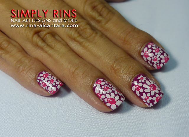 Flower Power Nail Art Design 02