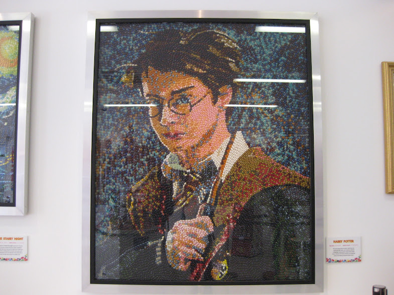 Because we can. Picture of Harry Potter made with jelly beans