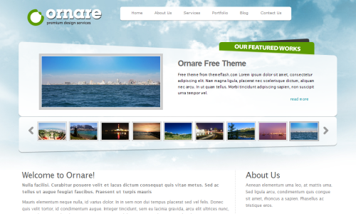 Free Website Templates  Company Portfolio Template