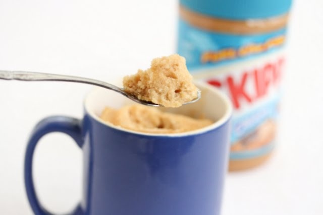 lower-fat peanut butter mug cake photo
