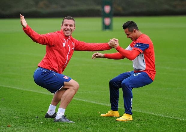 Dàn sao Arsenal cực nhắng trong buổi tập