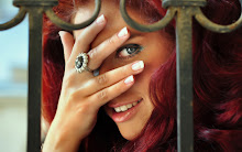 women eyes redheads models smiley faces 2560x1600 wallpaper