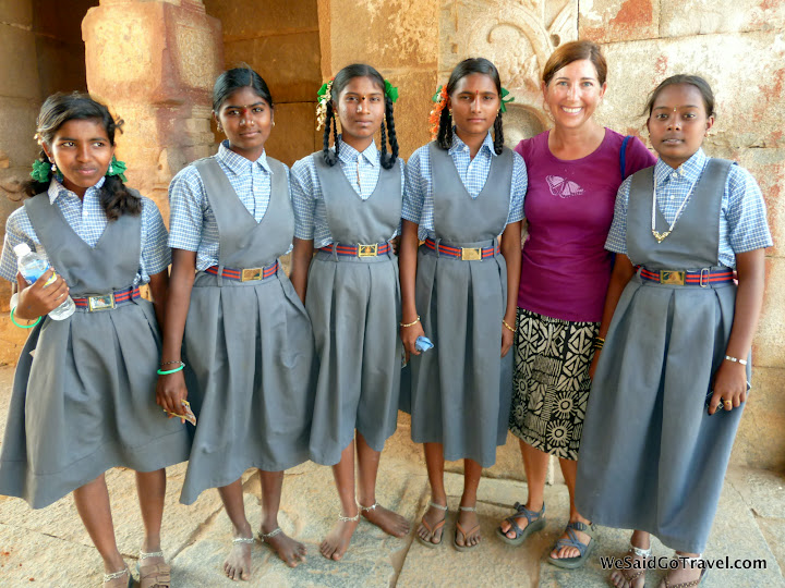 During 18 months of wandering around South East Asia, I visited many UNESCO sites. At Hampi, a group of schoolchildren on a field trip wanted to learn about me and America. #StudyAbroadBecause Your Whole Life Will Change