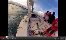 J/80 sailing video off Santander, Spain