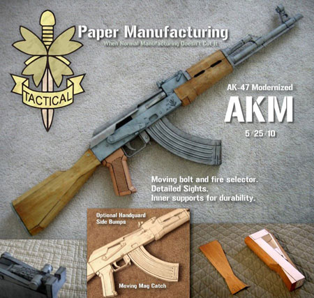 AKM Papercraft Assault Rifle