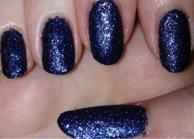Scottish Stef\'s Nails : Nails Inc\'s Sloane Gardens Navy Glitter Polish