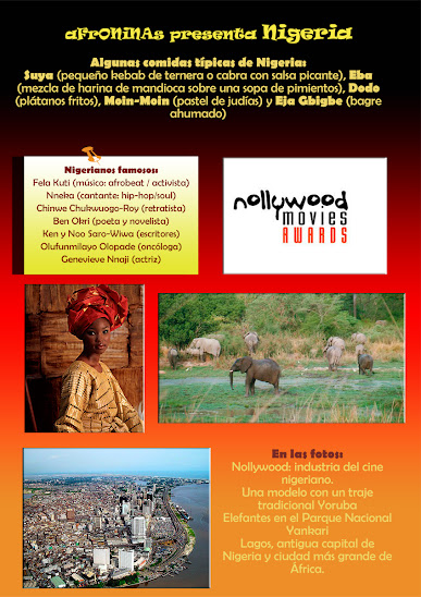Un país de África: Nigeria. Lagos, Abuja, Yoruba, Igbo, Yankari, nollywood