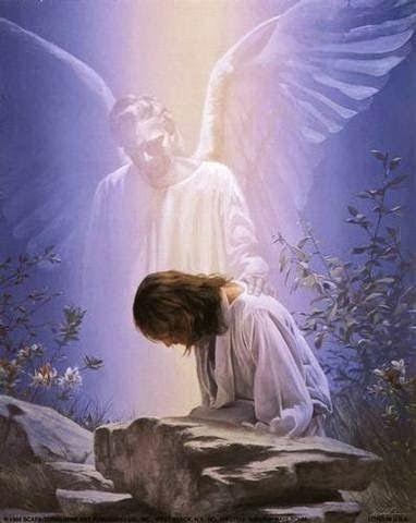 Resultado de imagen de imagenes de jesus orando en el monte de los olivos y el angel