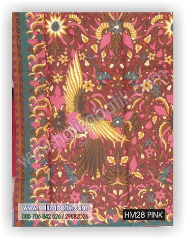 Kain Untuk Batik, Gambar Kain Batik, Baju Batik Modern, HM28 PINK