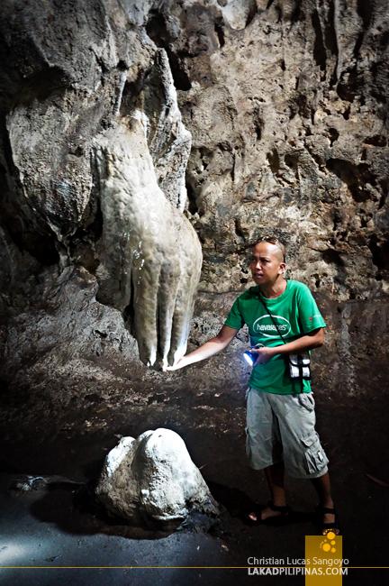 Hands at Hoyop-Hoyopan Cave in Camalig, Albay