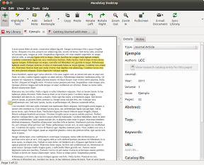 Leer y anotar PDF con Mendeley en Linux