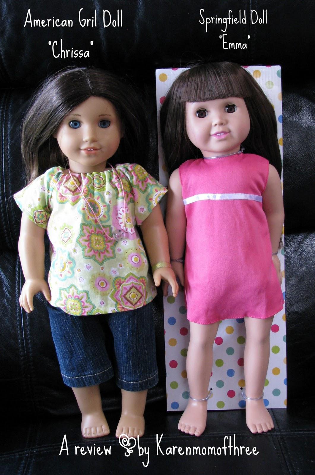 Karen Mom of Three\u0027s Craft Blog: A review of Springfield Dolls