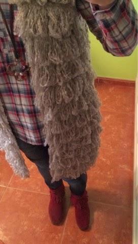 chaleco lanas,camisa cuadros