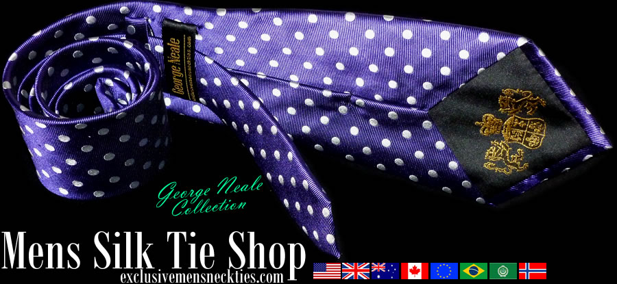 expensive dotted ties in OZ NZ UK USA Canada