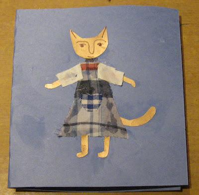 кошка из лоскутков