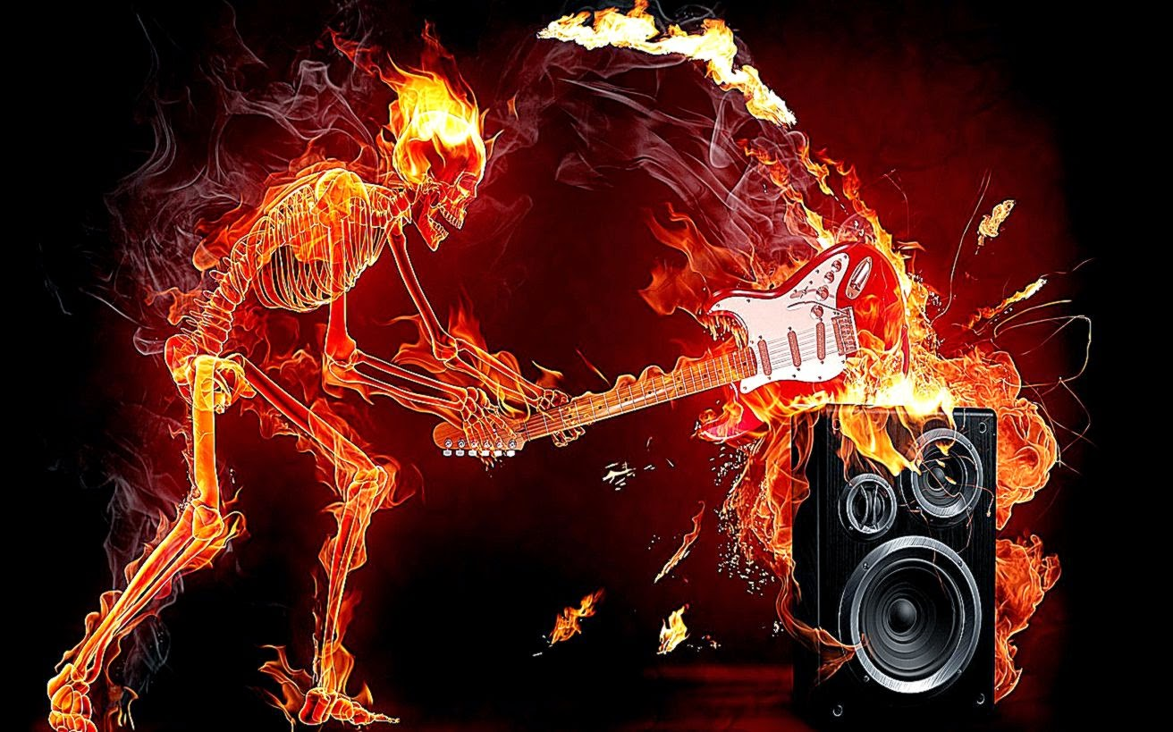 cool wallpaper fire skull - photo #15