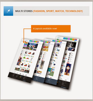 Mẫu website miễn phí  Brave - Flat Responsive Prestashop Theme