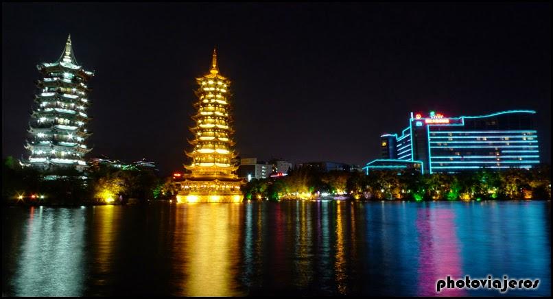 Pagodas del sol y la luna Guilin