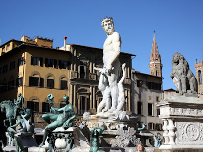 Sculptures in Florence Italy
