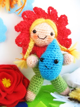 Amigurumi Flower girl crochet pattern by the sun and the turtle