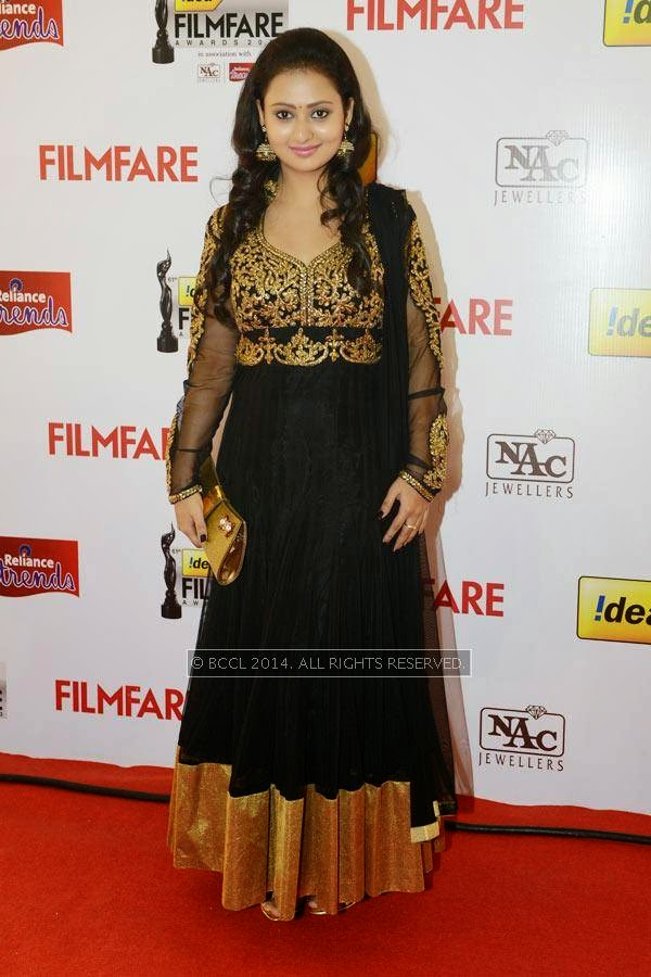 Amulya during the 61st Idea Filmfare Awards South, held at Jawaharlal Nehru Stadium in Chennai, on July 12, 2014.
