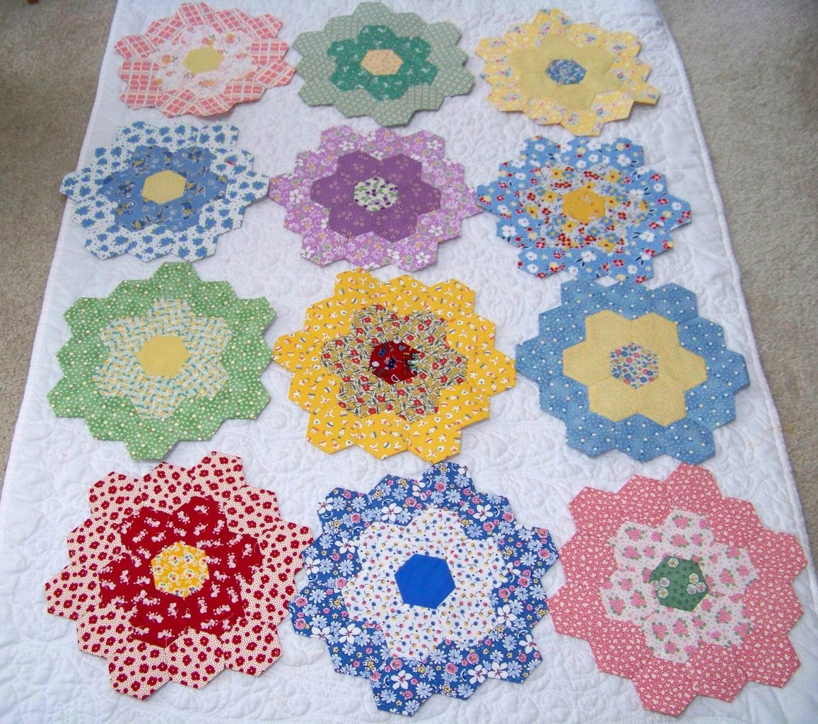 Attic Window Quilt Shop Grandmother S Flower Garden Help