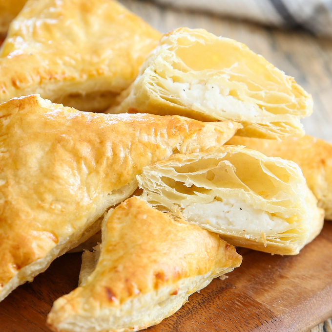 close-up of mashed potato pastries