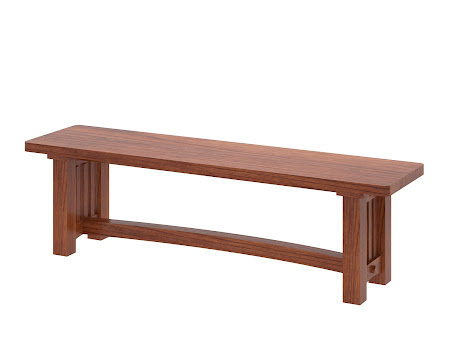 Albany Mission Bench in Cascadia Cherry