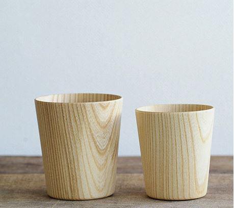 Vasos de madera.