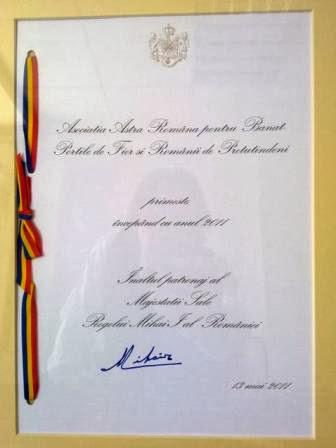 Înaltul Patronaj al Familiei Regale a României