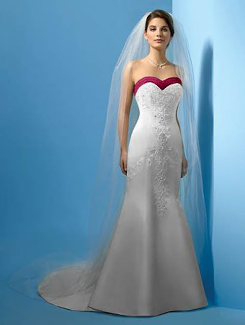 summer-wedding-dresses-with-red-strip-and-embroidery
