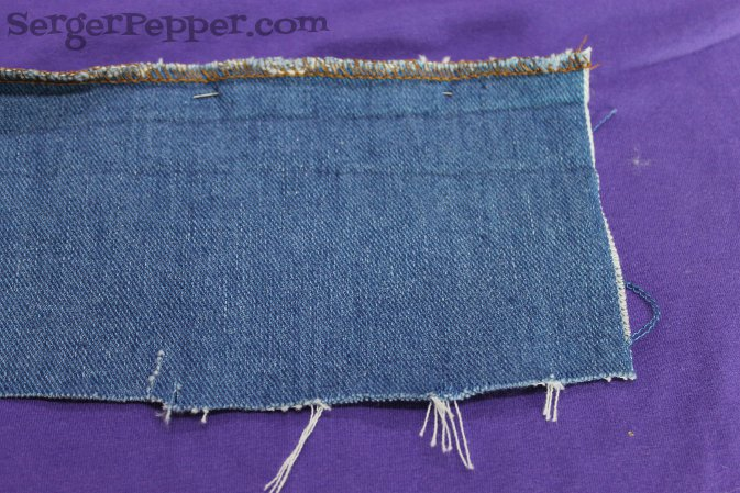Serger Pepper - Sewing Denim like a Pro - Serge fraying edges