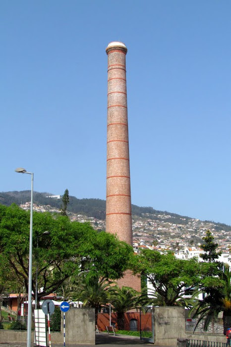 an historic chimney from an old sugar factory