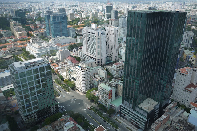 view from Bitexco financial tower