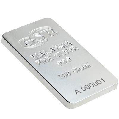 100g GSR Silver Bar (999)