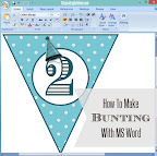 Make Bunting in Word