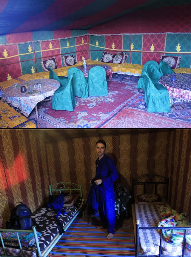 tenda para dormir no deserto