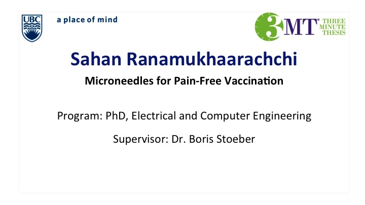 Microneedles for Pain-Free Vaccination