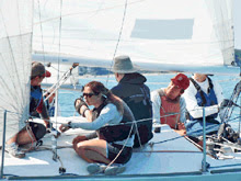 Sailing J/24s fast in light air- Mallory Trophy/ US Adult Champs